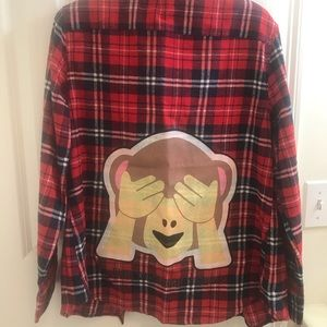 Money Emoji Flannel Shirt